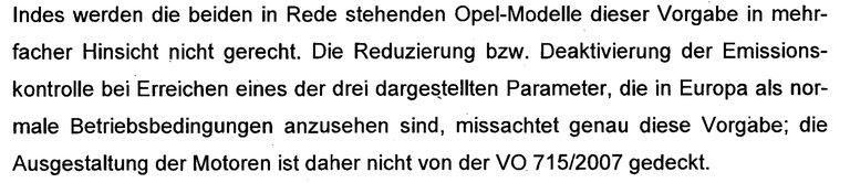 Illegale Abschalteinrichtung bei Opel
