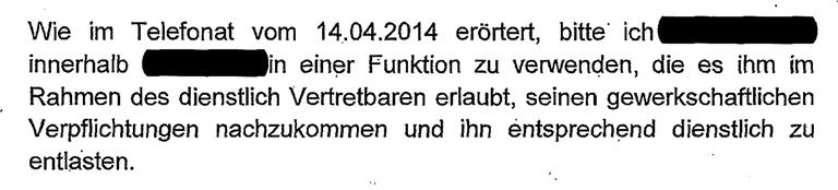 Erlass des NRW-Innenministeriums 2014