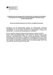 Vertrag des Verkehrsministeriums mit CTS Eventim zur Erhebung der PKW-Maut