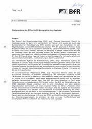 BfR-Stellungnahme zu Glyphosat