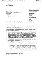 BfR-Abmahnung durch Gleiss Lutz