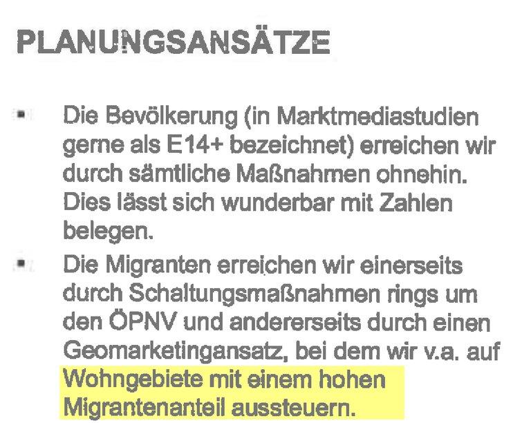 """""""Wohnorte mit hohen Migrantenanteil"""""""