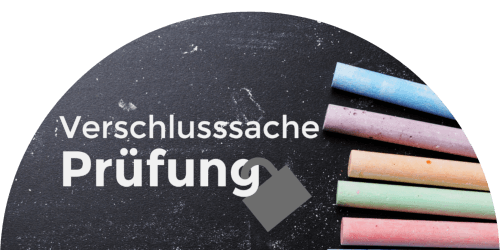 Logo Verschlusssache Prüfung