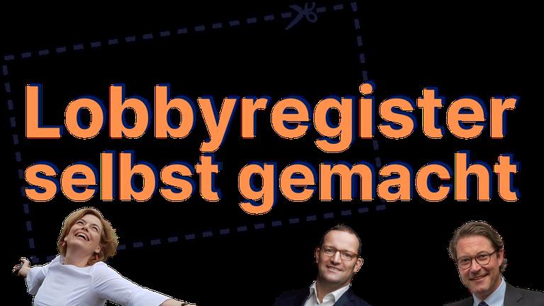 """Logo """"Lobbyregister selbst gemacht"""""""